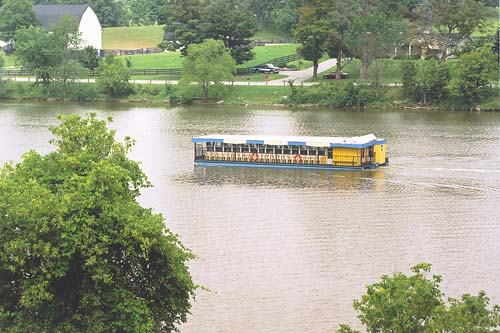 Grand River Cruises cruising down the Grand River