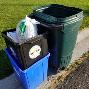 garbage and recycling curbside set-out