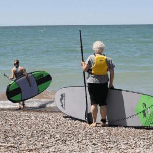 Women Paddle-boarding