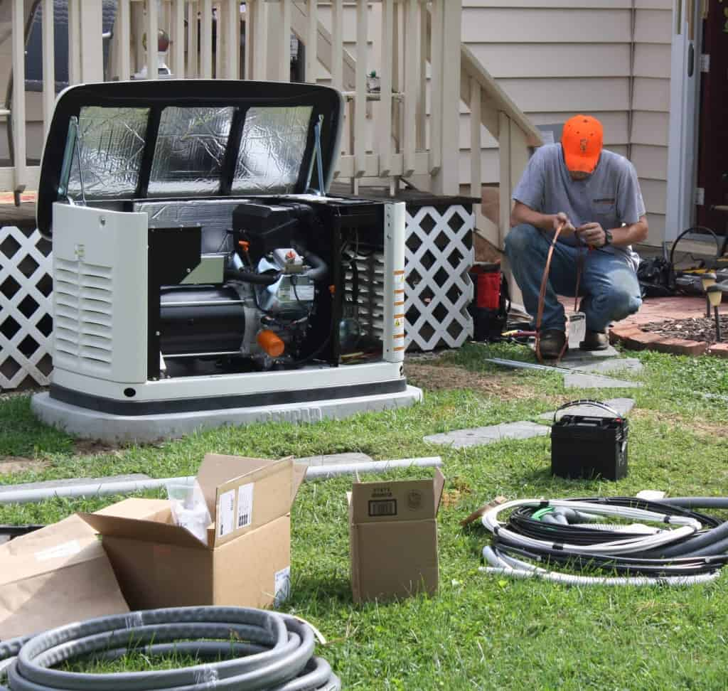 hight resolution of installation crew wiring a generac automatic standby generator to home