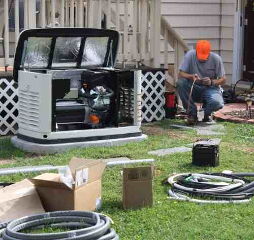 small resolution of installation crew wiring a generac automatic standby generator to home