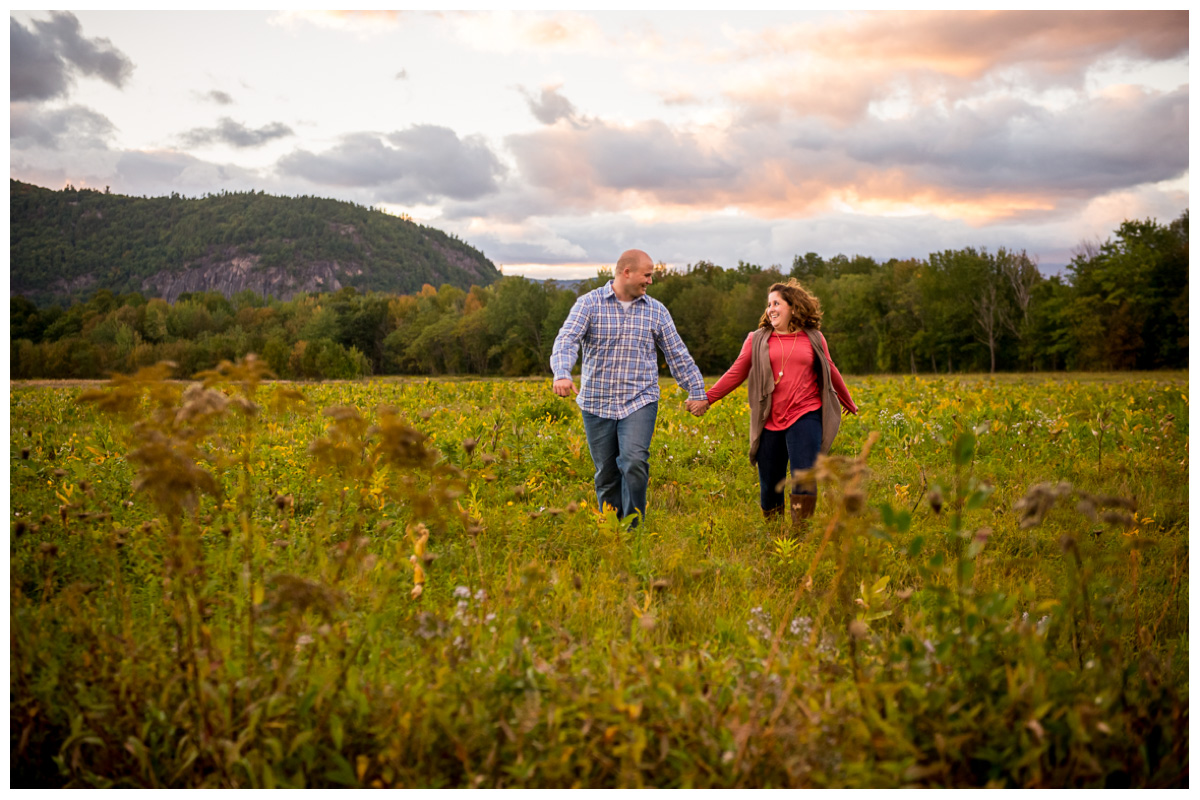 North Conway Engagement Photos New England Wedding