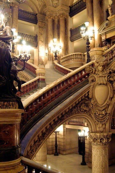 Stairway, Opera House, Paris, France