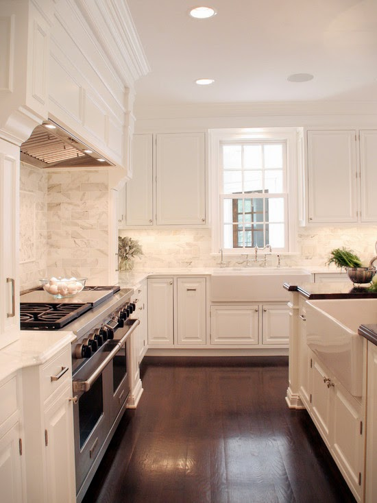 Elegant White Kitchen Utilizes Textures For Dimension (Cleveland)