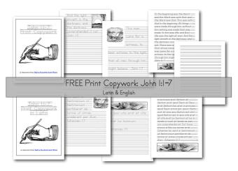 http://www.halfahundredacrewood.com/2014/03/john-1-bible-latin-copywork-print-and-cursive.html