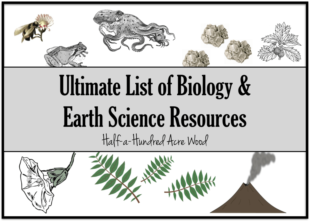 Biology Amp Earth Science Resources