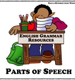 English Grammar Resources: Parts of Speech : Half a Hundred Acre Wood [ 1276 x 1280 Pixel ]
