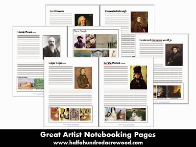 Great Artists Study: Renaissance, Post-Renaissance & Impressionists