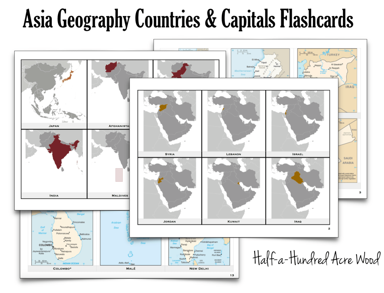 image regarding States and Capitals Flash Cards Printable named Ecu International locations Capitals Flashcards : 50 percent a Hundred