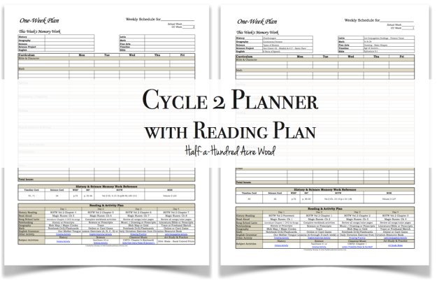 Cycle2ReadingPlanPlanner