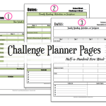 CC Challenge Planner Page {Free Printable}