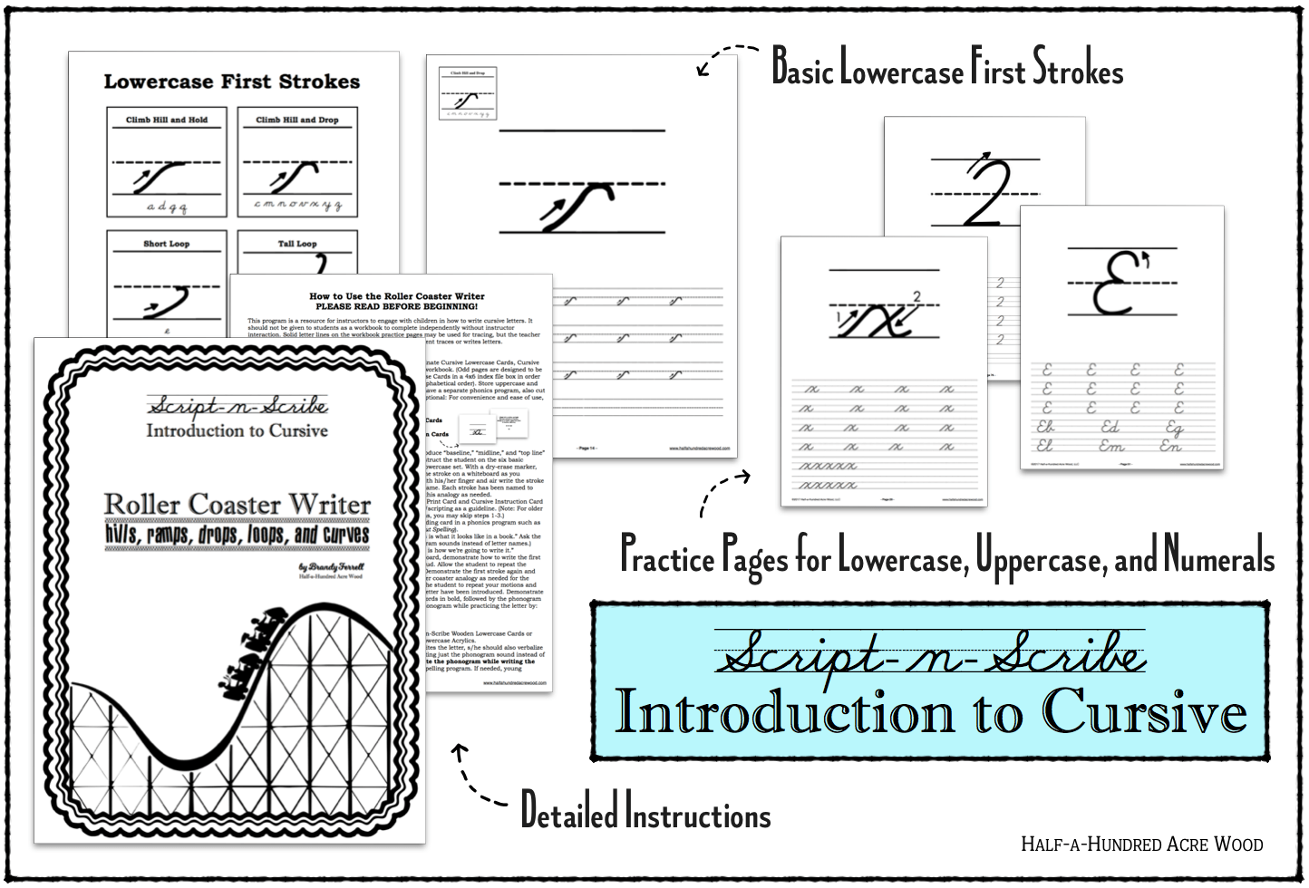 Introduction To Cursive Program The Roller Coaster Writer