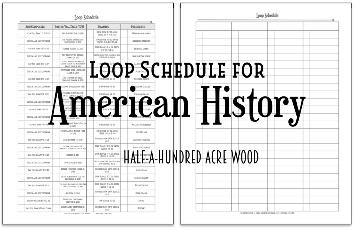 Cycle 3 Loop Schedules {American History}