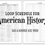 Cycle 3 Loop Schedules {American History}