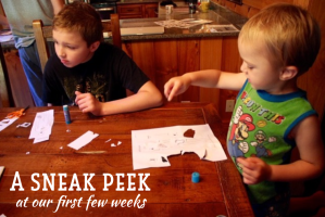 A sneak peek at our first few weeks