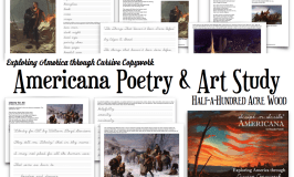 Script-n-Scribe Americana: American Art and Poetry Study through Copywork