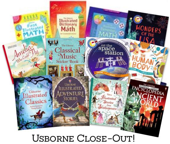 Usborne Book Closeout!