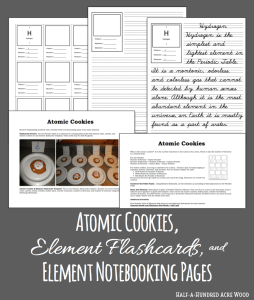 Element Flashcards, Activities, and Notebooking Pages