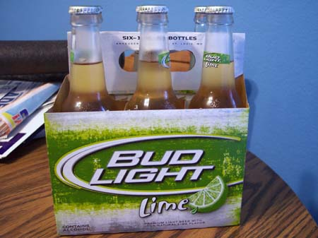 bud light lime half