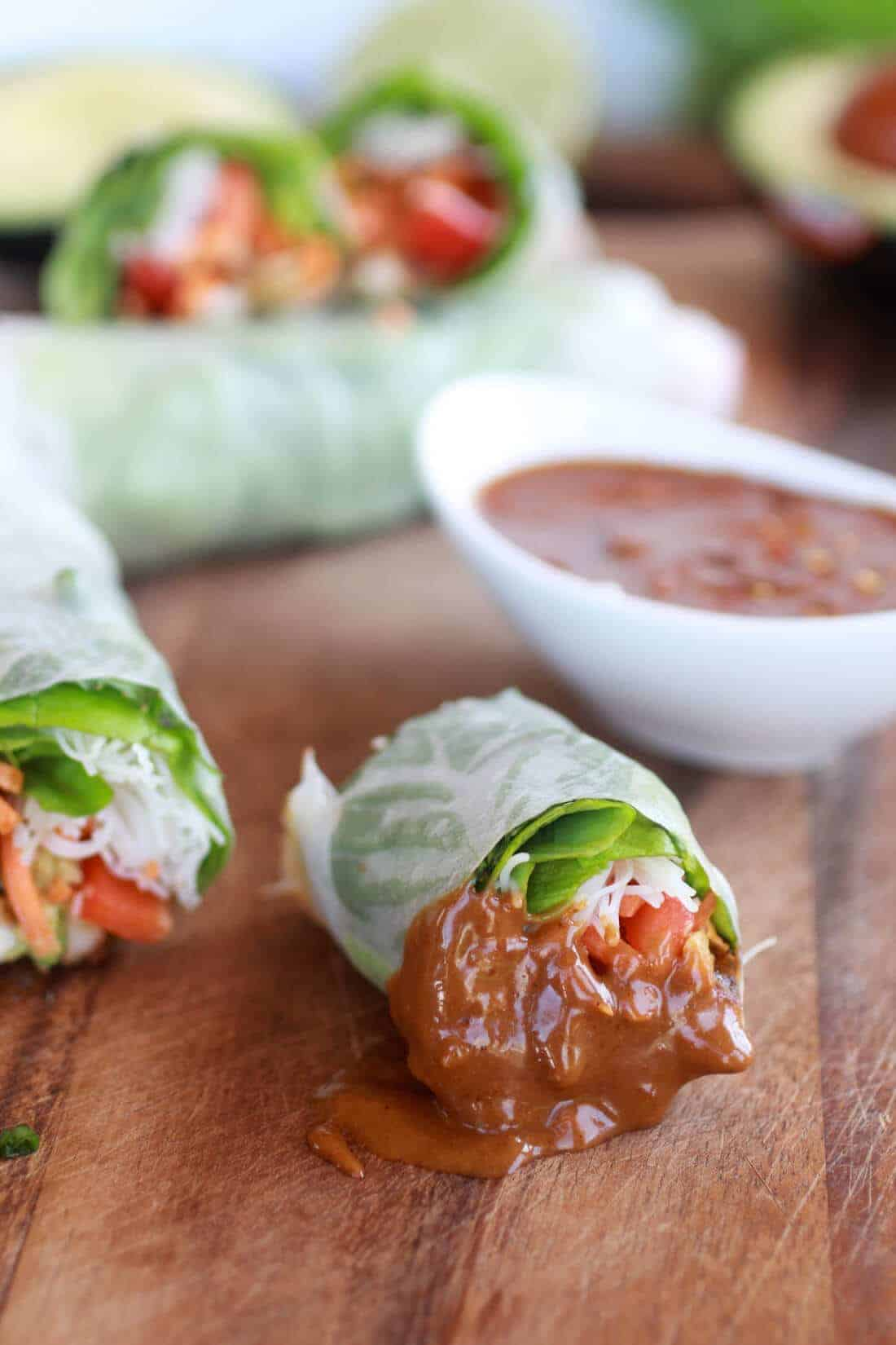 Avocado and Chicken Spring Rolls-11