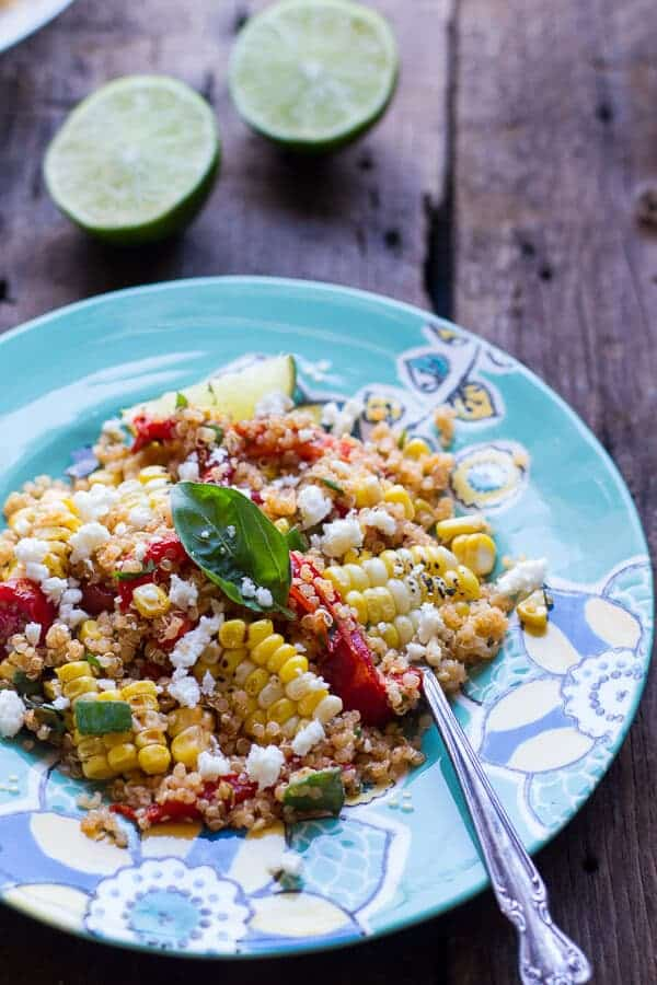 Summer Grilled Mexican Street Corn Quinoa Salad | halfbakedharvest.com