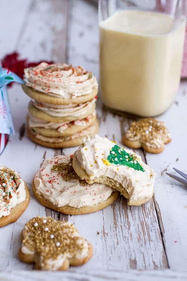 Easy Slice 'n' Bake Vanilla Bean Christmas Sugar Cookies w/Whipped Buttercream   halfbakedharvest.com @hbharvest