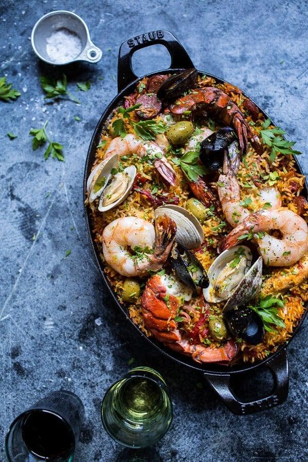 Skillet-Grilled-Seafood-and-Chorizo-Paella-1.jpg (600×900)