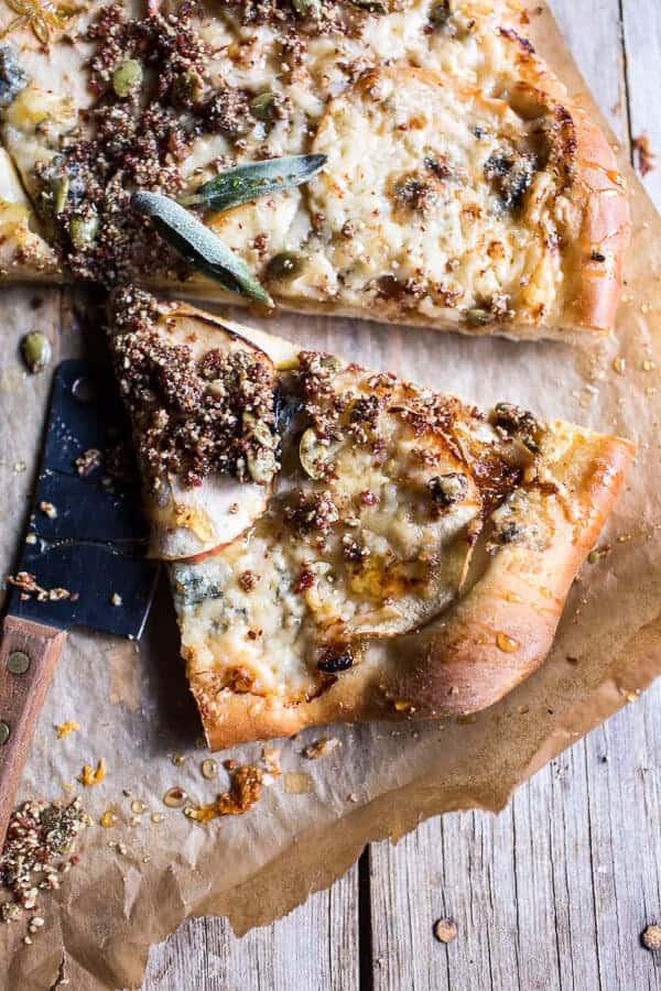 Apple and Caramelized Onion Pizza with Pumpkin Seed Pangrattato | halfbakedharvest.com @hbharvest