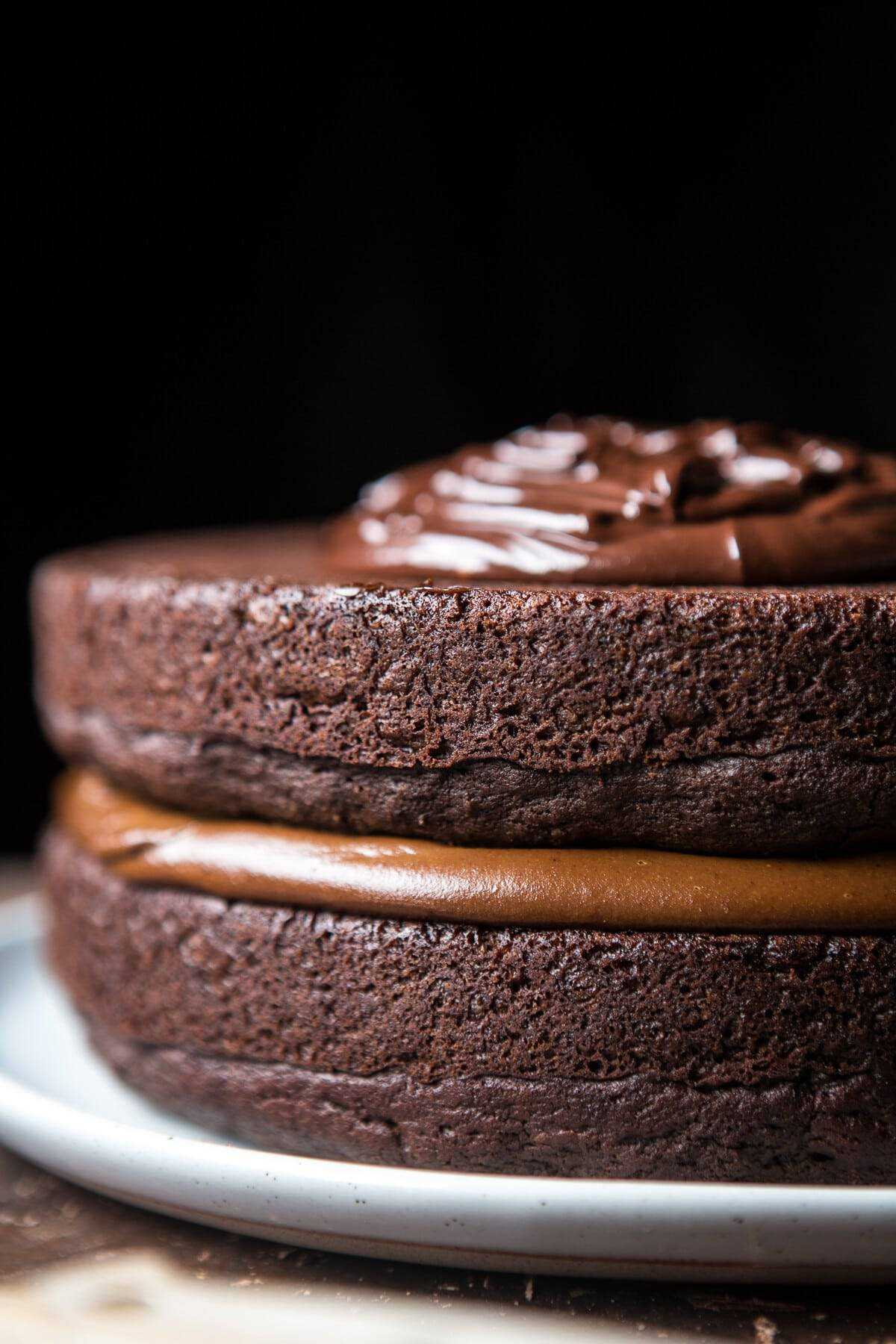 Vegan Chocolate Cake With Creamy Chocolate Almond Butter Buttercream Half Baked Harvest