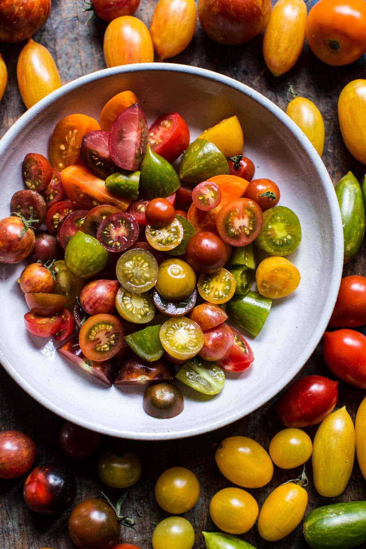 Marinated Cherry Tomatoes with Burrata + Toast | halfbakedharvest.com @hbharvest