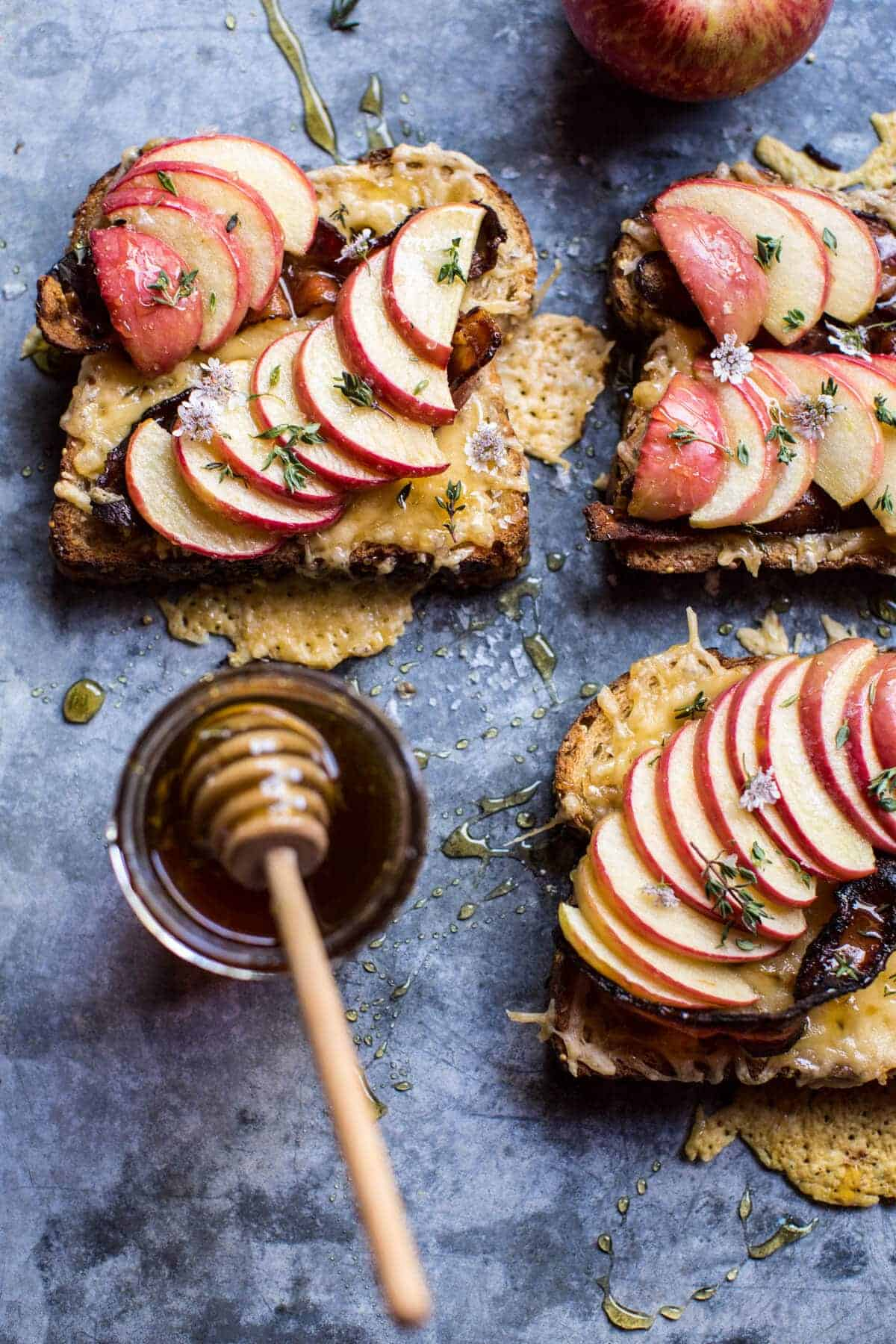 Salted Honey Apple and Gouda Toast | halfbakedharvest.com @hbharvest