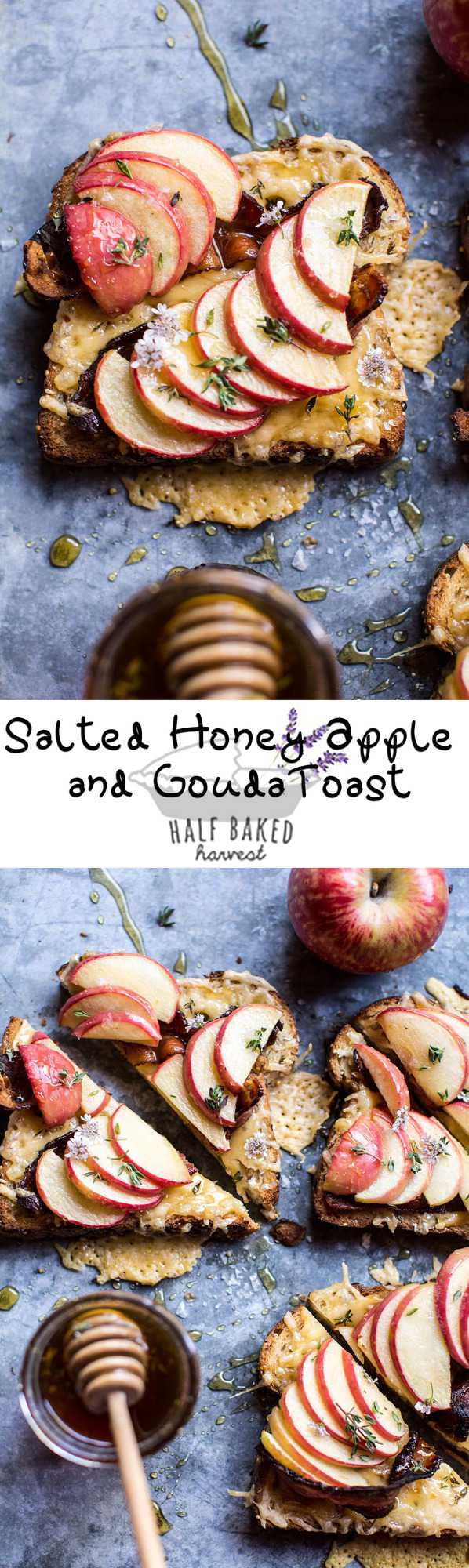 Salted Honey Apple and Gouda Toast _ halfbakedharvest.com @hbharvest