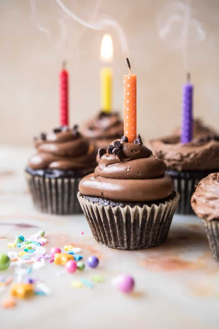 The Best Chocolate Birthday Cupcakes With Fudgy Chocolate