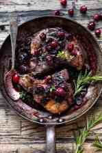 Roasted Cranberry Brown Sugar Pork Chops.