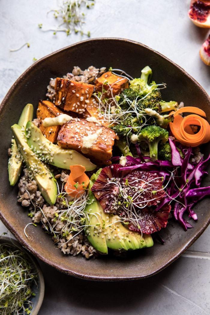Vibrant Spring Broccoli Buddha Bowl | halfbakedharvest.com #healthy #vegan #recipes #avocado