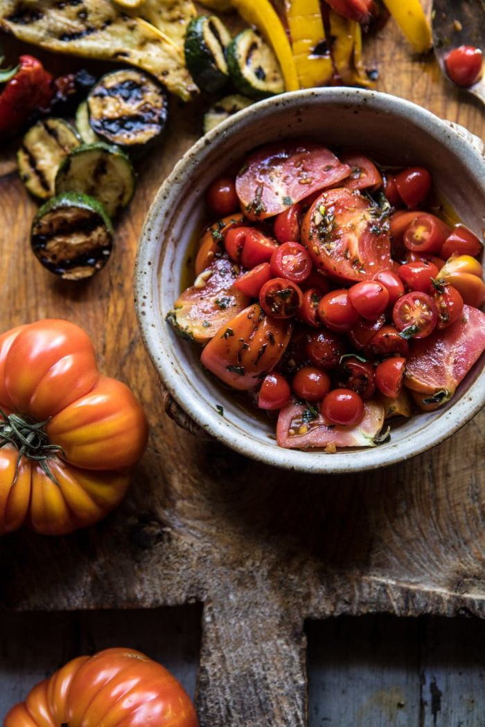 close up photo of Marinated Tomatoes