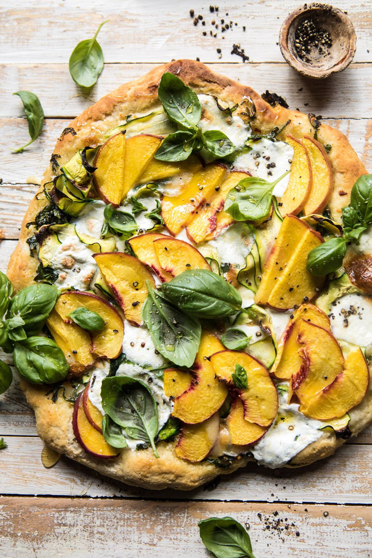 hight resolution of  pesto zucchini and peach pizza with burrata halfbakedharvest com peach pizza