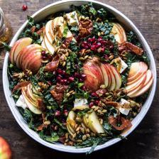 Fall Harvest Honeycrisp Apple and Kale Salad   halfbakedharvest.com #fall #easyrecipes #healthyrecipe #apples #salad