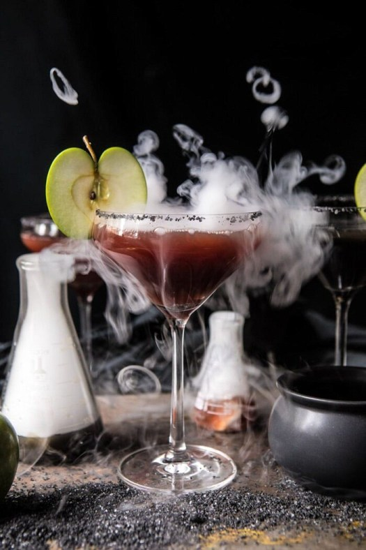 Poison Apple Martini   halfbakedharvest.com #martini #apple #halloween #cocktails