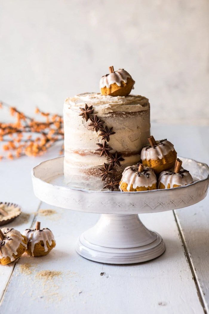 front on photo of Chai Pumpkin Cake with Maple Browned Butter Frosting