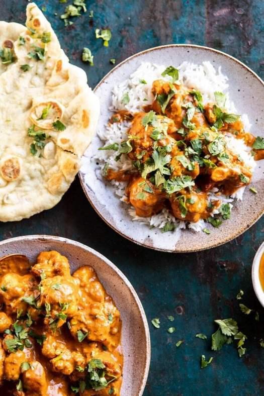 Indian Coconut Butter Cauliflower | halfbakedharvest.com #healthyrecipes #Indian #cauliflower #30minutes #easyrecipes