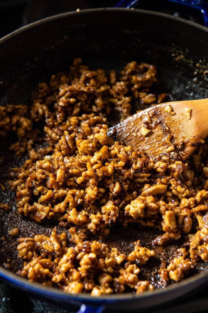 photo of Better Than Takeout Dan Dan meat mixture in pan