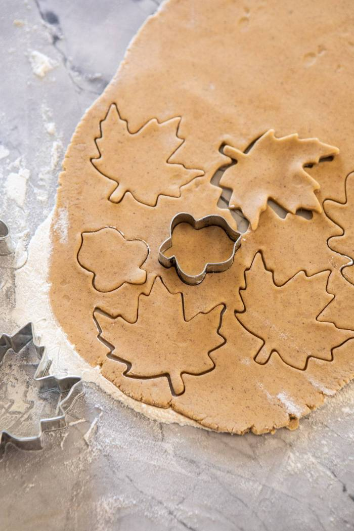overhead photo of Chai Spiced Maple Sugar Cookies before baking