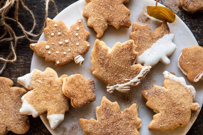 horizontal photo of Chai Spiced Maple Sugar Cookies with Browned Butter Frosting