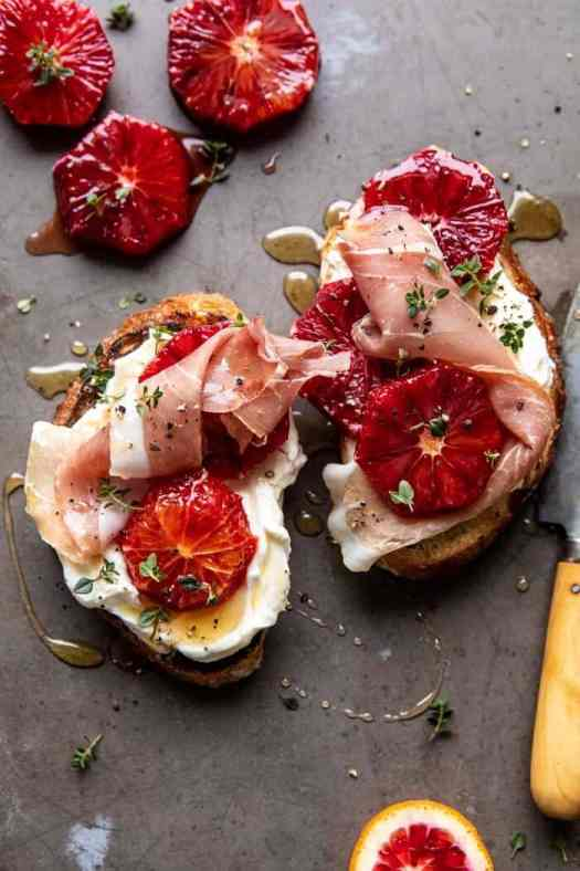 Simplest Whipped Ricotta Toast with Lemon Thyme Honey | halfbakedharvest.com #ricotta #toast #easyrecipe