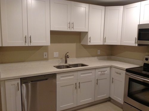 White Shaker Cabinets Fort Lauderdale FL  New Bathroom