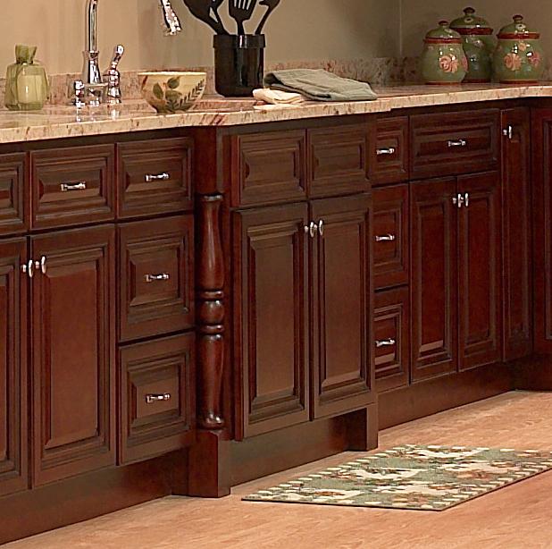Dark Cherry Wood Cabinets
