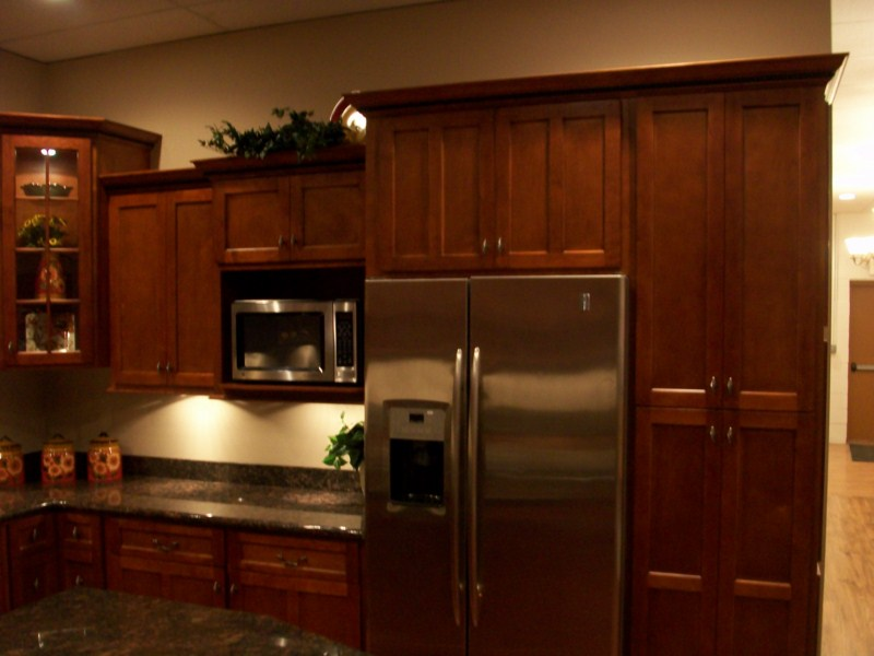 cherry kitchen cabinets server natural stain wood maple doors