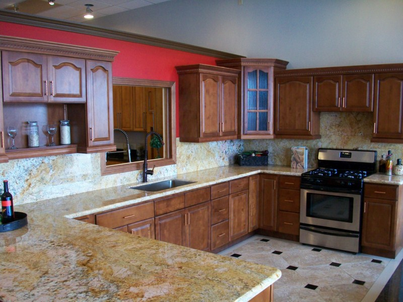 Walnut Wood Kitchen Bathroom Cabinets