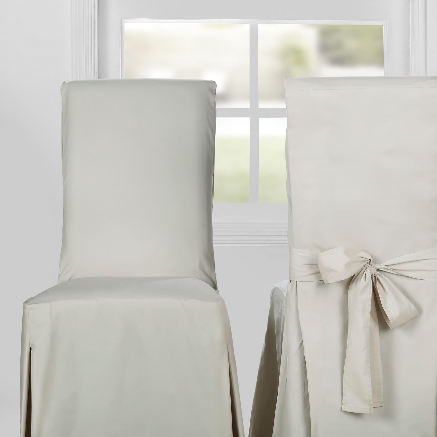 black cotton chair covers rolling desk cover hazelwood beige solid twill